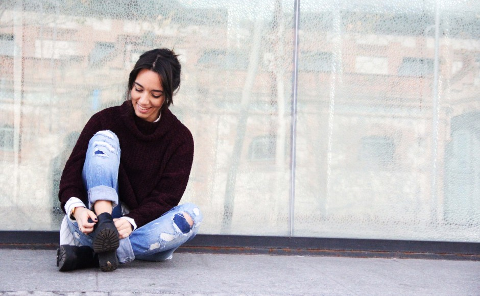 Cropped jeans & booties