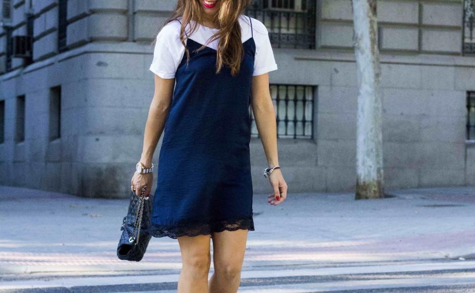 Slip dress + camiseta