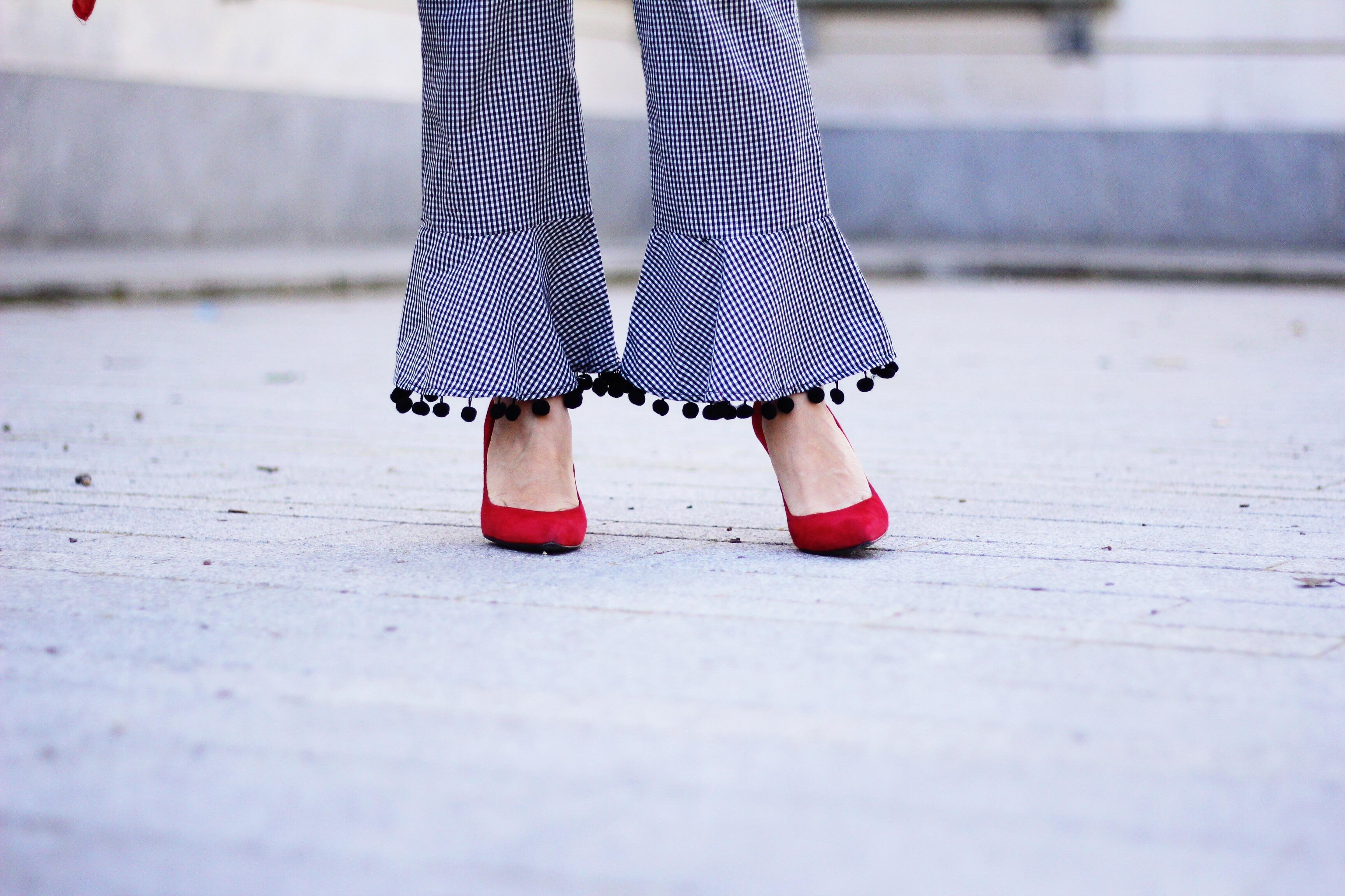 pantalón cuadros de vichy